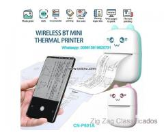 Portable Mini Thermal Printer Wirelessly BT Photo Label Memo Wrong Question Printing