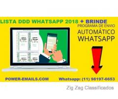 LISTA DDD WHATSAPP MARKETING + PROGRAMA DE ENVIOS WHATSAPP EM MASSA 2018